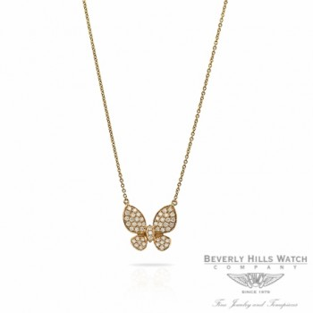 Designs by Naira Diamond Butterfly Rose Gold Chain Necklace 38699H 8WUYW9 - Beverly Hills Jewelry Store