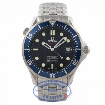 Omega Coaxial Seamaster Blue Dial Blue Bezel 2220.80 4Y1XB4 - Beverly Hills Watch Company Watch Store