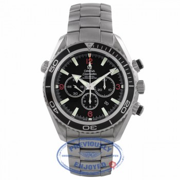 Omega Planet Ocean Chronograph 46MM Stainless Steel Black Dial Black Bezel Bracelet 2910.51.82 Y5037Z - Beverly Hills Watch Company Watch Store