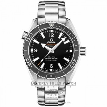 Omega Planet Ocean 42mm Stainless Steel Bracelet Black Dial Black Bezel Automatic Dive Watch 232.30.42.21.01.001 Beverly Hills Watch Company Watch Store