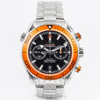 Omega Seamaster Planet Ocean Chronograph Black Dial Orange Bezel Caliber 9300 Dive Watch 232.30.46.51.01.002 Beverly Hills Watch Company Watch Store
