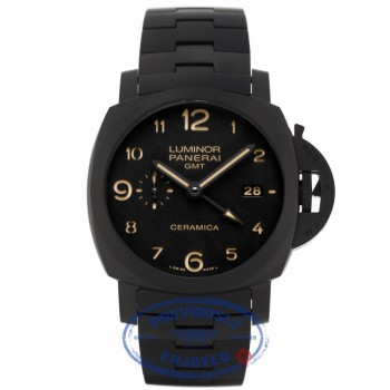 Panerai Luminor 1950 Tuttonero 44MM Black Ceramic Dial and Bracelet Watch PAM00438 FNPLVU - Beverly Hills Watch Company