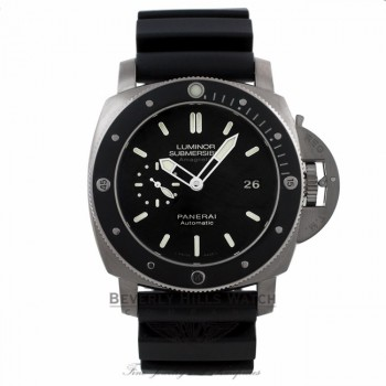 Panerai Contemporary Luminor Submersible 1950 Amagnetic 3 Days Black Dial Titanium PAM00389 VV58DC - Beverly Hills Watch Company Watch Store