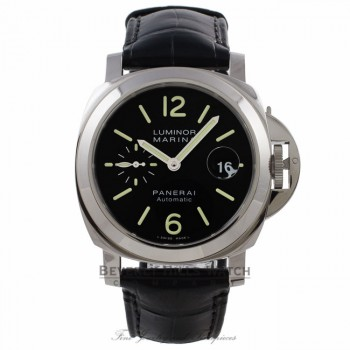Panerai Luminor Marina 44mm Stainless Steel PAM00104 02VU48 - Beverly Hills Watch Company Watch Store