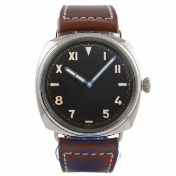 Panerai Radiomir California 3 Days Power Reserve Stainless Steel Black Dial Brown Leather Strap PAM00448 3H2VF6 - Beverly Hills Watch Company Watch Store