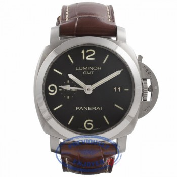 Panerai Luminor 1950 3 Day Power Reserve GMT Stainless Steel PAM00320 VUZ767 - Beverly Hills Watch Company Watch Store