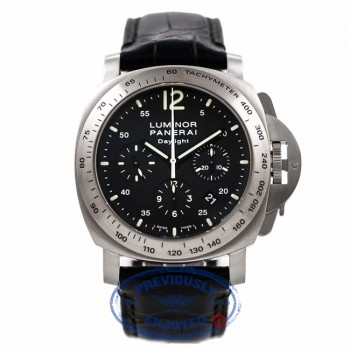 Panerai Luminor Dalight Chronograph 44MM Stainless Steel Black Dial PAM00250 UTM4UA - Beverly Hills Watch Company Watch Store