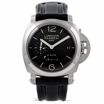 Panerai PAM00233 1950 Luminor 8 Day Power Reserve GMT PAM00233 NLVQXN - Beverly Hills Watch Company Watch Store