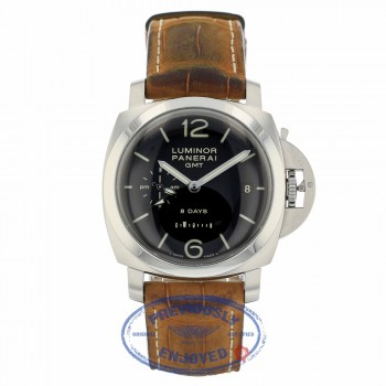 Panerai 1950 Luminor 8 Day Power Reserve GMT PAM00233 TRQ63C - Beverly Hills Watch Company