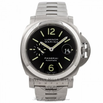 Panerai Luminor Marina 44MM Stainless Steel Automatic PAM00299 6WLGC6 - Beverly Hills Watch Company Watch Store