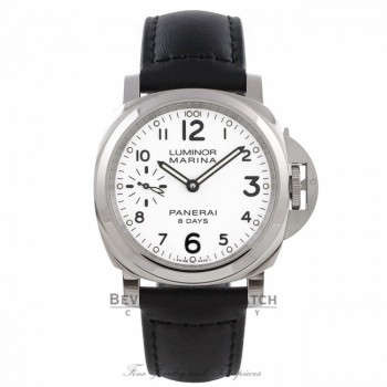 Panerai Luminor Marina 8 Day Stainless Steel White Dial PAM00563 X768MU - Beverly Hills Watch Company Watch Store