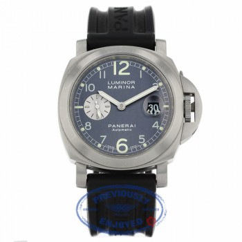 Panerai Luminor Marina Automatic 44mm Anthracite Arabic Dial Rubber Strap PAM00086 T0V17L - Beverly Hills Watch Company