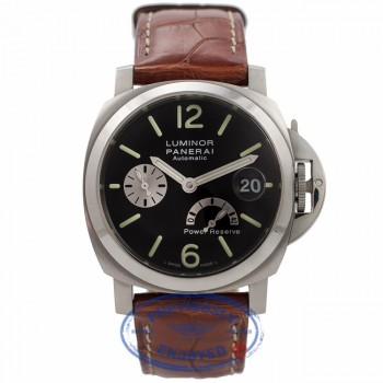 Panerai Luminor 40mm Power Reserve Black Stainless Steel PAM 125 E311IS - Beverly Hills Watch Company Watch Store