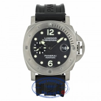 Panerai Luminor Submersible Black Dial Rubber Strap PAM00025 2HQ6VY - Beverly Hills Watch Company