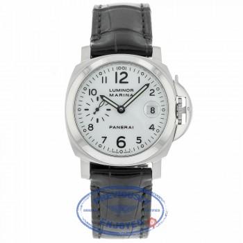 Panerai Luminor Marina Automatic 40mm Stainless Steel White Dial PAM00049 X5UAR1 - Beverly Hills Watch
