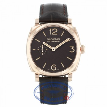 Panerai Radiomir 1940 Brown Dial Brown Leather PAM00513 FA6DKT - Beverly Hills Watch Company
