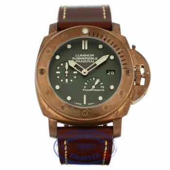 Panerai Luminor Submersible 1950 Bronzo 47MM 72 Hour Power Reserve Green Dial PAM00507 MJQCA4  - Beverly Hills Watch Company
