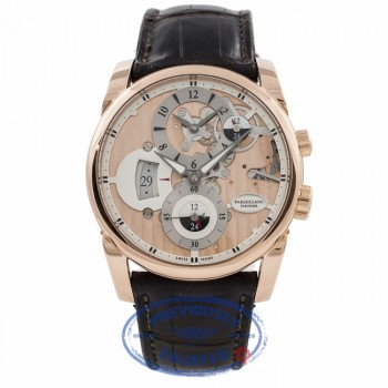 Parmigiani Fleurier Hemisphere Tonda 42 18K Rose Gold Limited Edition Rose Dial PFC231-1002400 62QQH1 - Beverly Hills Watch Company