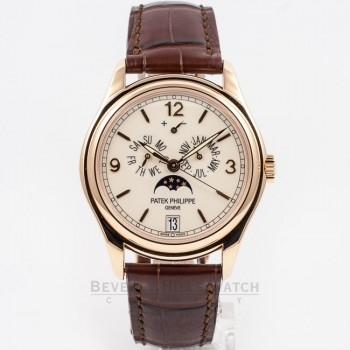 Patek Philippe 5146R-001 Rose Gold Annual Calendar Moon Phase Power Reserve 39mm Watch Beverly Hills Watch Company Watch Store