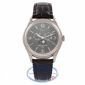 Patek Philippe Annual Calendar 18k White Gold Slate Dial 5146G-010 45HT1T - Beverly Hills Watch Company Watch Store