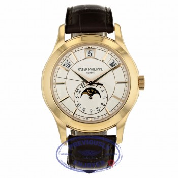 Patek Philippe Annual Calendar 40mm Rose Gold White Dial 5205R-001 D6XDPW