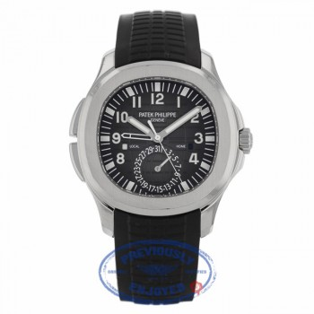 Patek Philippe Aquanaut Travel Time 40MM Stainless Steel Black Dial Black Rubber Strap 5164A-001 11PAEN - Beverly Hills Watch Company