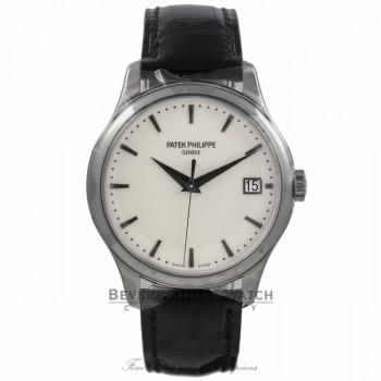 Patek Philippe Gents Calatrava 39mm White Gold Self-Winding Ivory Dial Watch 5227G-001 HRUYUC - Beverly Hills Watch Store