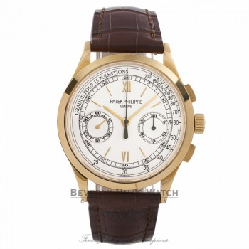 Patek Philippe 5170J-001 Yellow Gold Chronograph Manual Wind Opaline White Dial 39mm Watch Beverly Hills Watch Company Watch Store