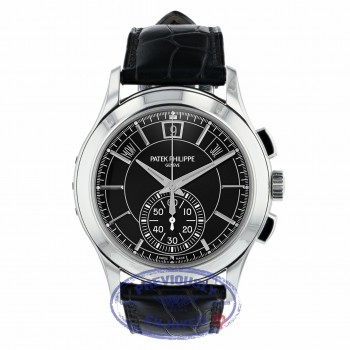 Patek Philippe Annual Chronograph Platinum Case Black Dial 42mm 5905P-001 WFTWN8 - Beverly Hills Watch