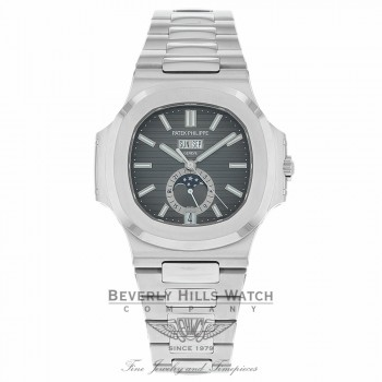 Patek Philippe Nautilus Mechanical Black Dial Stainless Steel 5726/1A-001 RKDW69 - Beverly Hills Watch
