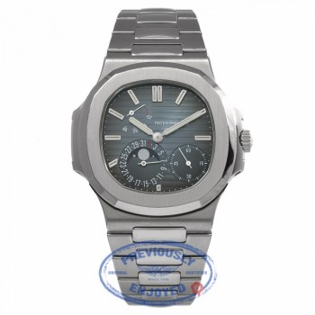 Patek Philippe Nautilus Stainless Steel Blue Dial 5712-1A X6EH50 - Beverly Hills Watch Store