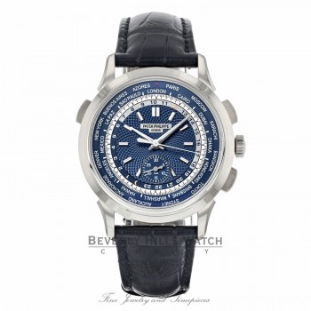 Patek Philippe Complications Blue Dial Automatic 18K White Gold 5930G-0001 EDRLH2 - Beverly Hills Watch