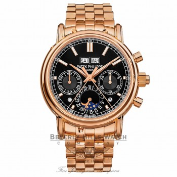 Patek Philippe Perpetual Calendar Split-Seconds Chronograph Black Dial 5204/1r-001 D6M2YM - Beverly Hills Watch Company