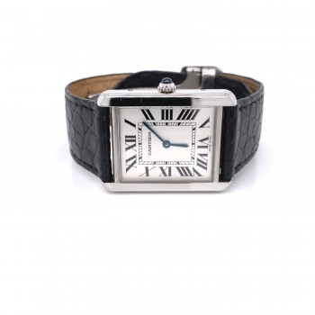 Cartier Tank Solo Large Stainless Steel W1018355 PDPW17 - Beverly Hills Watch Company