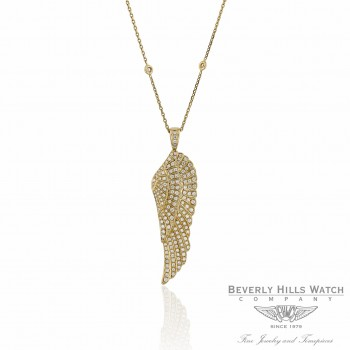 Angel Wing Pendant Yellow Gold and Diamonds Naira & C UMTJLV - Beverly Hills Watch Company