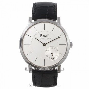 Piaget Altiplano Ultra Thin 43MM 18k White Gold Automatic Silver Dial 1208P 9HH98T - Beverly Hills Watch Company Watch Store