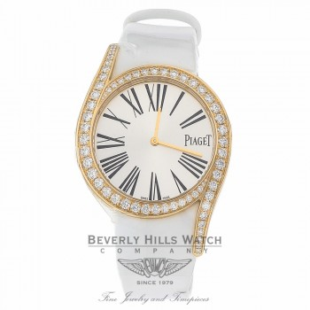 Piaget Limelight Gala 18K Rose Gold Diamond Silver Dial G0A39167 L53N1P - Beverly Hills Watch