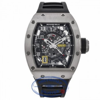 Richard Mille RM030 18k White Gold Titanium Detachable Rotor Black Rubber Strap RM030 AN WG 0Q7VJE - Beverly Hills Watch Company Watch Store