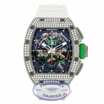 Richard Mille Mancini Edition Titanium Aftermarket Diamond RM11-01 AN Ti/046 KFZ9EY - Beverly Hills Watch