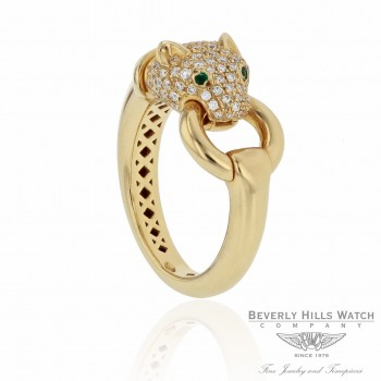 Naira & C 18K Yellow Gold Diamond Panther Ring CCMI0281/13/ring-Y P1F6CY - Beverly Hills Jewelry Store