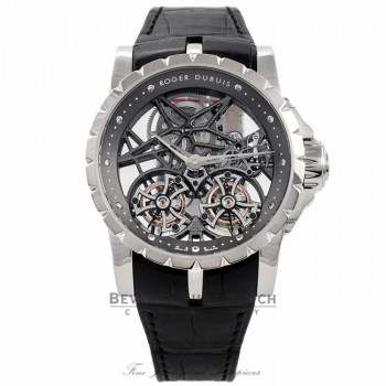 Roger Dubuis Excalibur Double Tourbillon Millesime 45MM Platinum EX45-01SQ-80-00/SE000/B DUZYYP - Beverly Hills Watch Company Watch Store