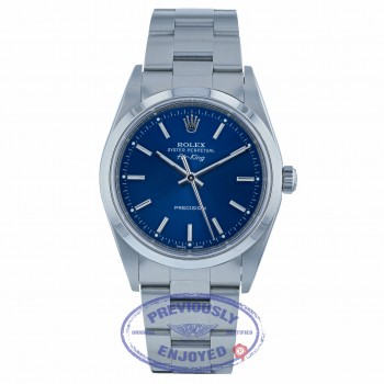 Rolex Air-King 34mm Stainless Steel Blue Dial 14000 8LK7UF