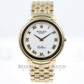 Rolex Cellini 18K Yellow Gold 36mm Case and Bracelet Ladies Watch 6623 Beverly Hills Watch Company
