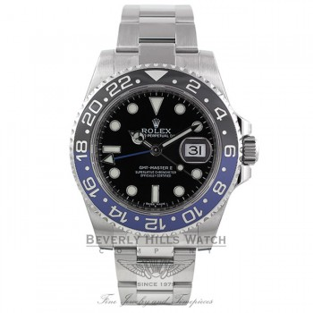 Rolex GMT Master II Bruiser Black/ Blue Ceramic Bezel Stainless Steel 116710 1QW3MV - Beverly Hills Watch Company