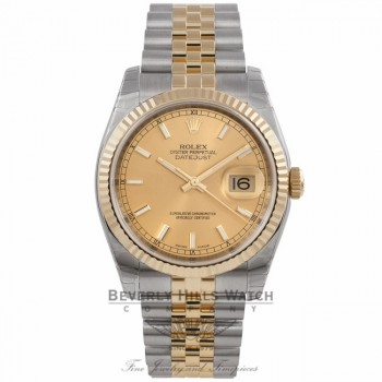 Rolex Perpetual Datejust Champagne Dial Automatic Stainless Steel and 18K Yellow Gold 116233 5ECCYF