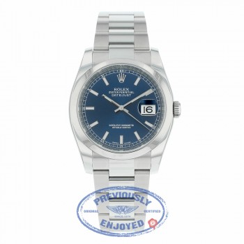 Rolex Datejust 36mm Stainless Steel Blue Dial 116200 A6R0YA - Beverly Hills Watch Company