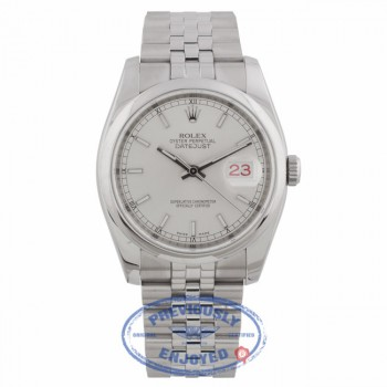 Rolex Datejust 36mm Silver Index Domed Jubilee bracelet Stainless Steel 116200 5DJ2KF - Beverly Hills Watch Company