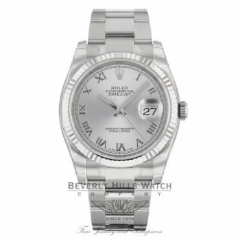 Rolex Datejust 36MM Silver Roman Dial Oyster Bracelet 116234 LD65KA - Beverly Hills Watch Company