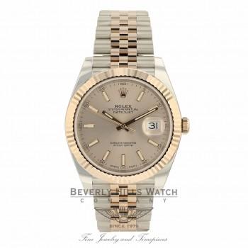 Rolex Datejust 41mm Everose and Stainless Steel Sundust Dial Jubilee Bracelet 126331 QUJ3C2