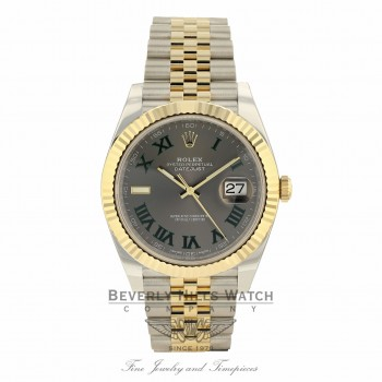 Rolex Datejust 41mm Wimbledon Dial Steel 18K Yellow Gold Jubilee 126333 9LZL96